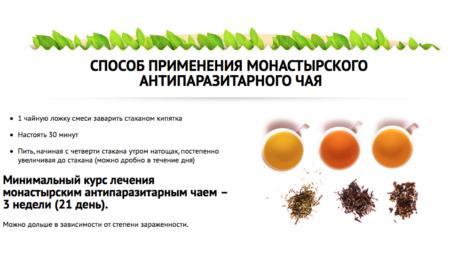 применение монастырского анипаразитарного чая